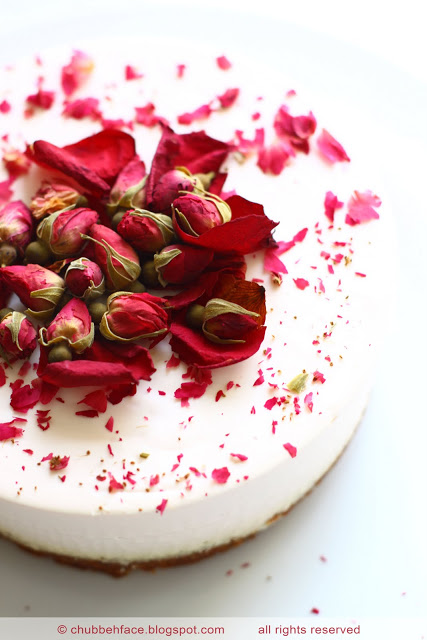 Chubby Baker Diary: Rose Tea Cheesecake