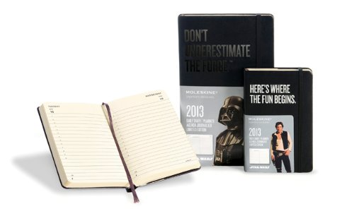 Amazon.co.jp: Moleskine 2013 12 Month Star Wars Limited Edition Daily Planner Black Hard Cover Large: Moleskine: 洋書