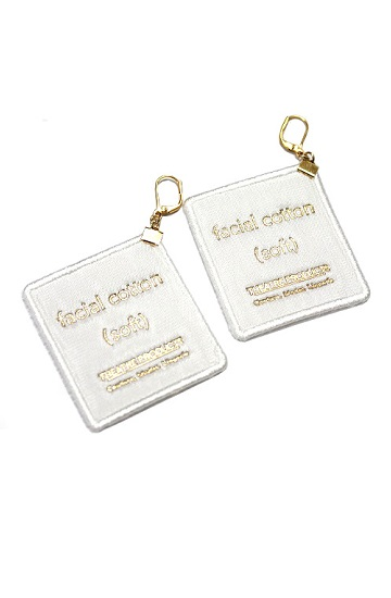 THEATRE PRODUCTS facial cotton pierced earrings(white) - Cheerful Market