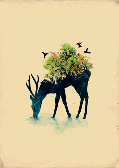 Watering (A Life Into Itself) Art Print by Budi Satria Kwan | Society6