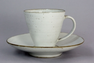Lucie Rie and Hans Coper A Cup and Saucer, circa 1952