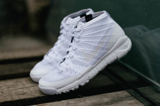 """A Closer Look at the Nike Flyknit Trainer Chukka SFB """"White/White"""" 