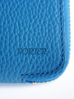 LOVE online store|MEN | BAL  BAL/PORTER® THIN LEATHER WALLET M (cyan)