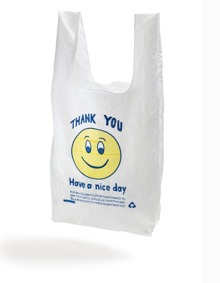 YELLOW + BLUE SMILE TOTE – open-editions