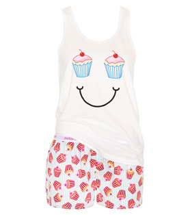 Peter Alexander - New Collection - Ice Cream You Scream - Stripe Cup Cake PJ Set