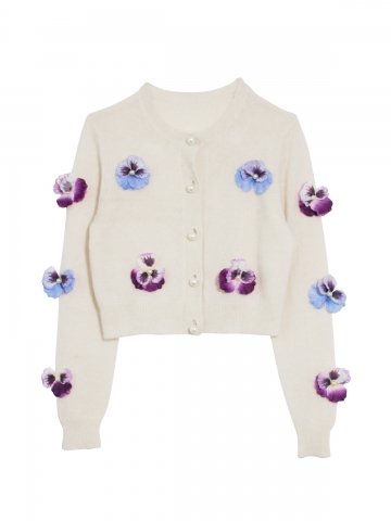 Pansy knit cardigan | HONEY MI HONEY ハニーミーハニー ONLINE STORE