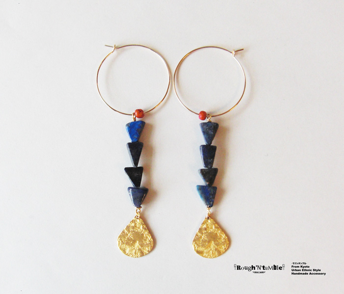 Summer collection Lapis hoop pierce - Rough'N'tumble