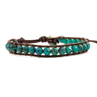 Bracelets > Mixed Turquoise Single Wrap Bracelet | Chan Luu