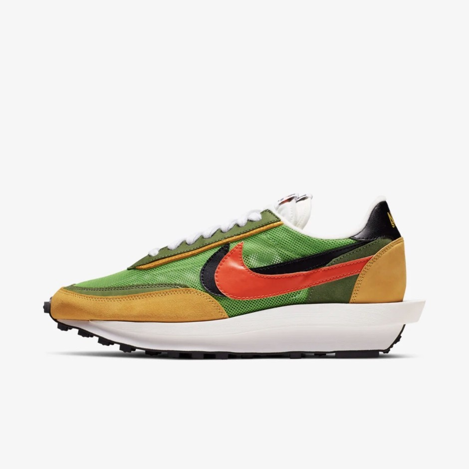 【NIKE公式】ナイキ LDワッフル sacai 'Green Gusto and Varsity Maize and Safety Orange' (BV0073-300 / LDWAFFLE). Nike⁠+ SNKRS JP