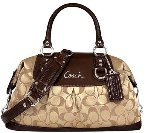 Amazon.com: Coach Signature Ashley Sabrina Satchel Duffle Bag Purse Tote 15443: Clothing