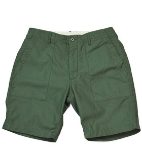 Inventory Stockroom — Engineered Garments<br>Olive Sateen Fatigue Shorts