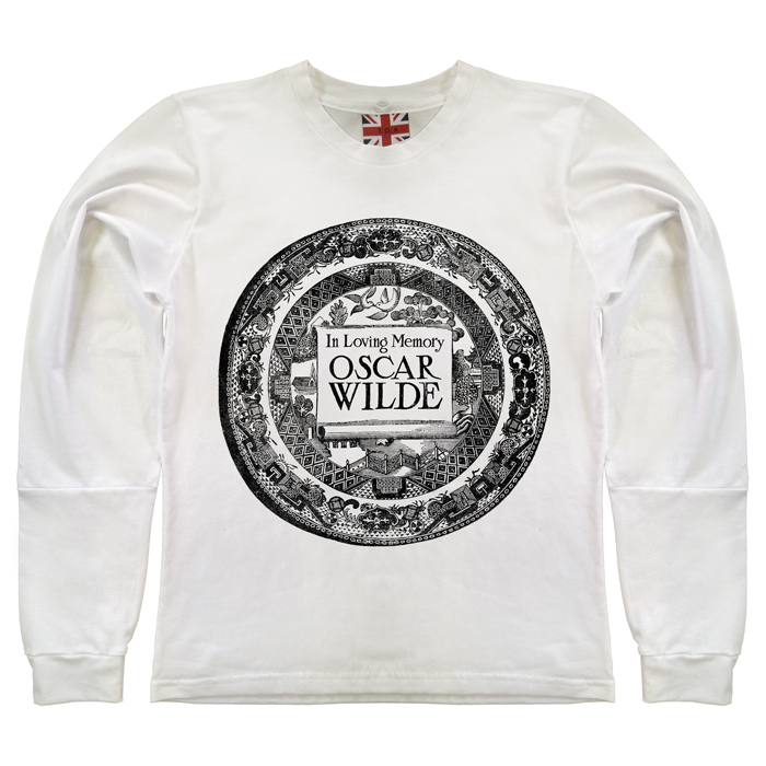 WILDE white long sleeve t-shirt / The Orphan's Arms