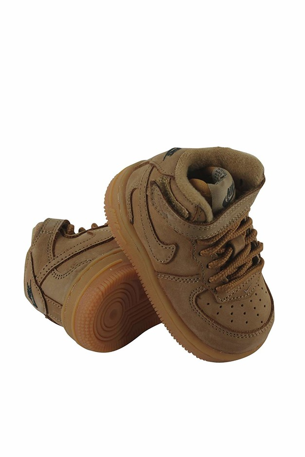 Amazon.com | Nike Force 1 MID LV8 (TD) Boys Toddler Basketball-Shoes 859338-200_10C - Flax/Flax-Outdoor Green-Gum Light Brown | Basketball