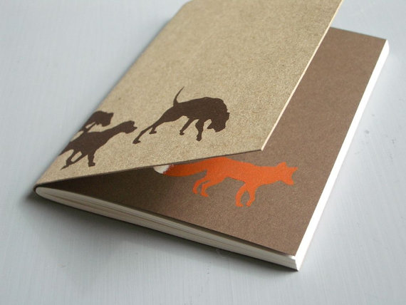 Hounds and Fox Notebook by LittleAlexander on Etsy