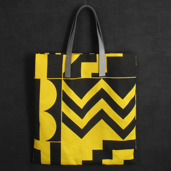 Darkroom Aztec Screen Printed Yellow Tote - Large - Darkroom
