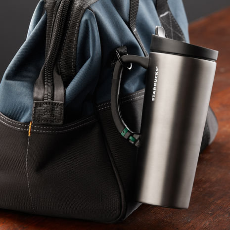 Stainless Steel Clip Tumbler with Handle, 16 fl oz | Starbucks® Store