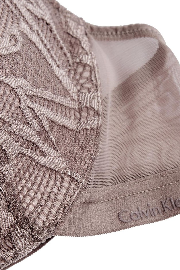 Calvin Klein Underwear | Infuse stretch-lace and tulle plunge bra | NET-A-PORTER.COM
