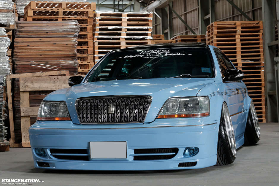 Baby Blue Toyota Crown Majesta Rides Low [Photo Gallery]