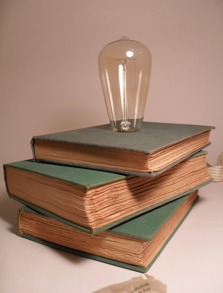 Vintage Book Table Lamp by ColemanCreative11 on Etsy