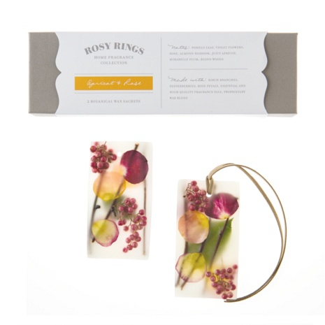 Apricot & RoseWax Sachets: Rosy Rings - Candles, Reed Diffusers, Potpourri