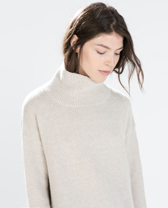 OVERSIZED POLO NECK SWEATER - Knitwear - WOMAN | ZARA Netherlands