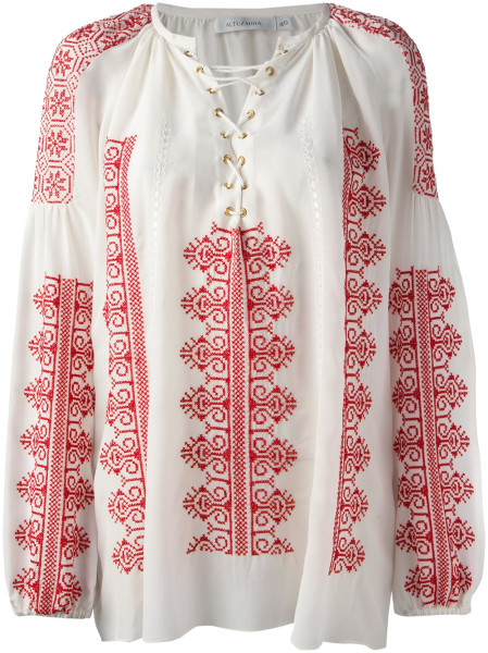 Altuzarra Melody Embroidered Top in White   Lyst