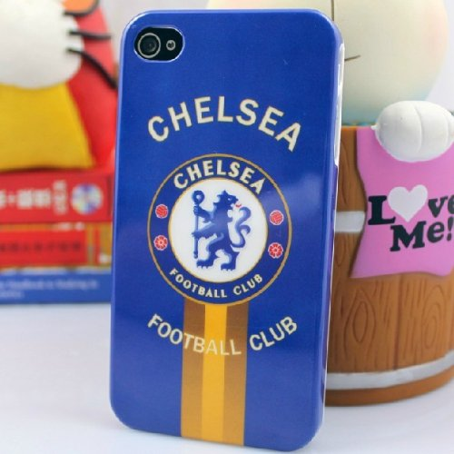 Amazon.co.jp: iPhone4/4S ケース Football Club Design Case【Chelsea(チェルシー)】: 家電・カメラ