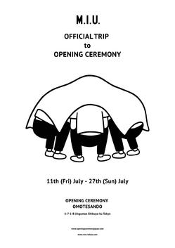 M.I.U. OFFICIAL TRIP to OPENING CEREMONY 2014.7/11(Fri.)-7/27(Sun.) 表参道店にて期間限定オープン!!|JUST IN|OPENING CEREMONY JAPAN