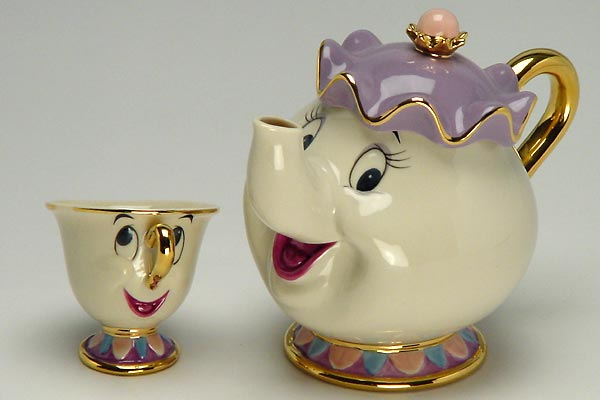 Beauty and the Beast tea set - Google 画像検索