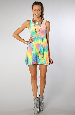 See You Monday The SYM Tie Dye Velvet Dress : Karmaloop.com - Global Concrete Culture