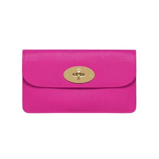 Long Locked Purse in Mulberry Pink Glossy Goat | Accessories | Mulberry