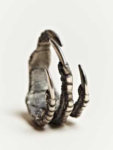 Ann Demeulemeester Men's Silver Claw Ring | LN-CC
