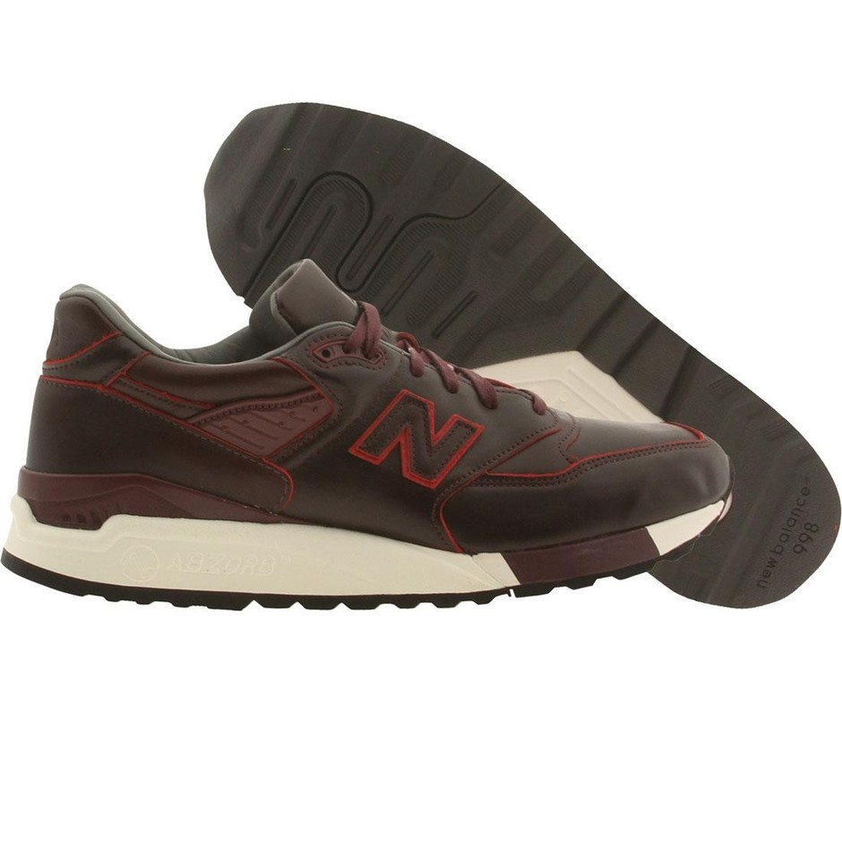 New Balance x Horween Leather Men M998WD - Made In USA (purple / maroon)