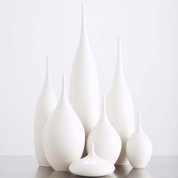7 piece White Matte Bottle Collection by Sara Paloma by sarapaloma