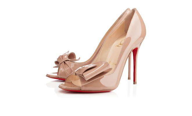 Just Soon 100mm Nude Patent Leather