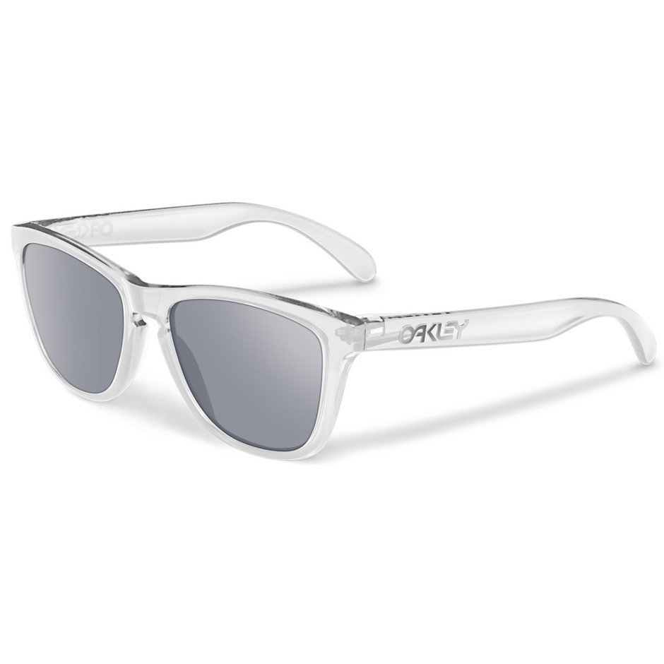 Oakley Frogskins Sunglasses OO9245-05 - Polished Clear / Slate Iridium (Asian Fit) - Extreme Supply