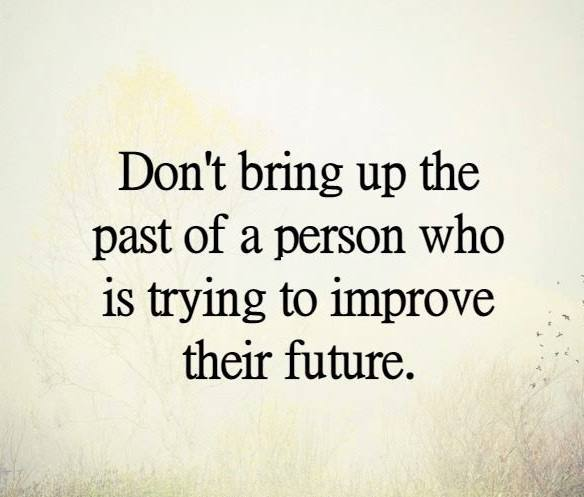 Don't bring up the past… | So Many Unsaid Things…