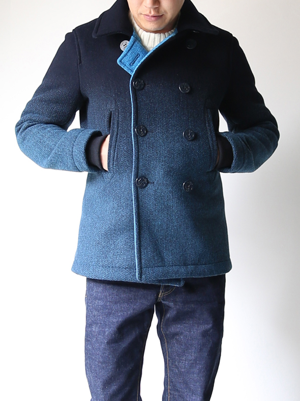 "MINOTAUR ""DAWN PEA COAT""(NAVY-BLUE/TURQUOISE) 商品詳細 THE SUPERIOR LABOR,A VONTADE,CURLY,NICHE,bukht通販サイト 広島県呉市のセレクトショップ"