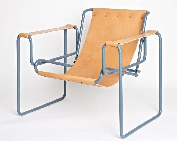 'replica wassily chair, found in the street, re-purposed' - henry wilson