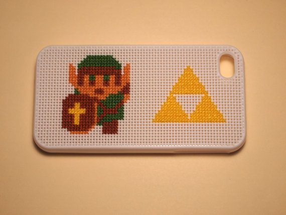 Link with Triforce iPhone 4 or 4S Case by TechStitch on Etsy