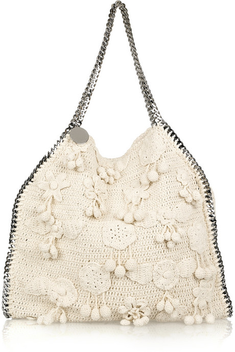 Stella McCartney Falabella Large Crocheted Shoulder Bag - $292.00