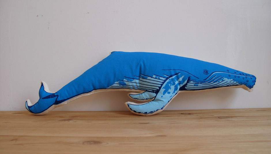 Plush Whale Pillow by shannonbroder on Etsy