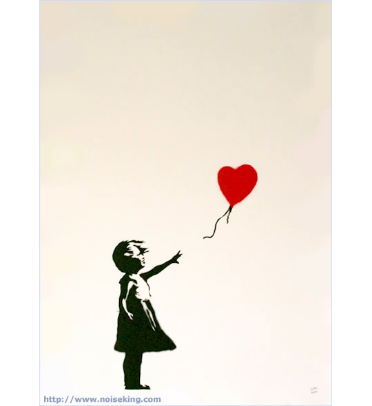 Banksy (バンクシー) Girl with Baloon poster ポスター|NOISEKING
