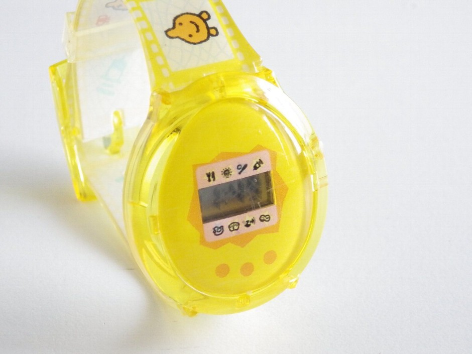 Tamagotchi Digital Wrist Watch Clear Yellow Bandai Japan Limited Edition | eBay