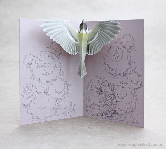 tobidustry tree great tit pop-up card - shop - upon a fold