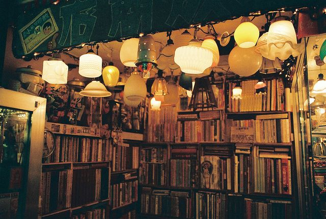 books and lights | Home Ideas | Pinterest