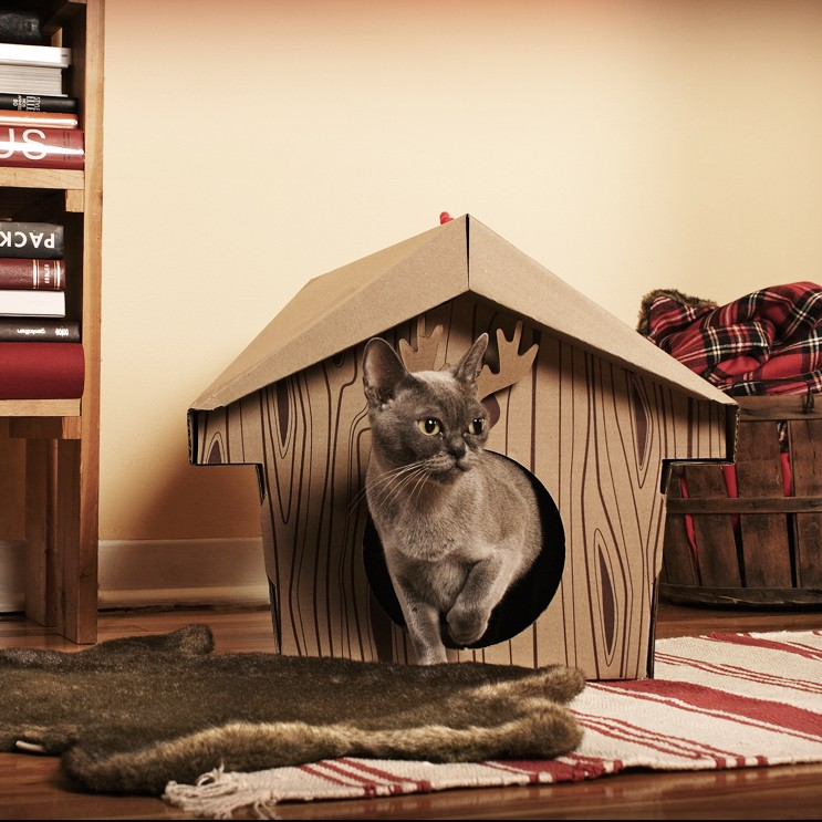 The Canadian Cabin, a cool cardboard cat house that folds together, no tools required - latimes.com