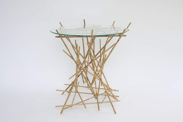 Blow Up Bamboo Collection small table - black & white online store
