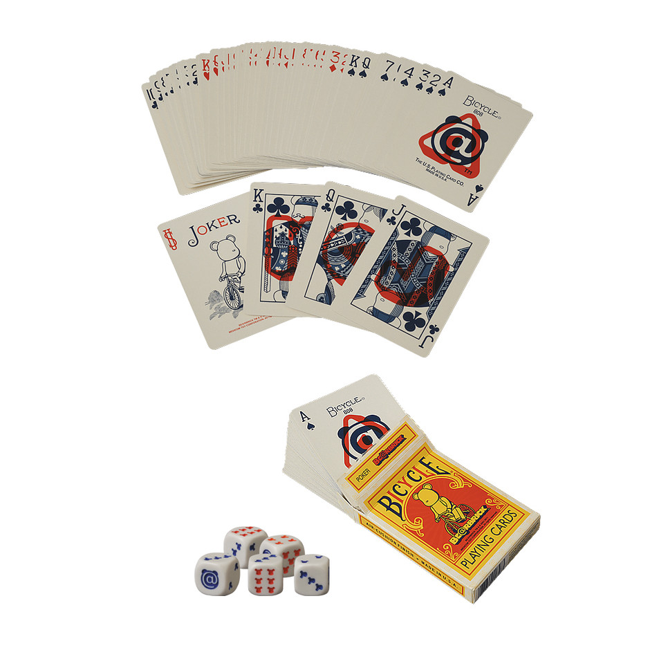 MEDICOM TOY - BE@RBRICK BICYCLE PLAYING CARDS POKER SET