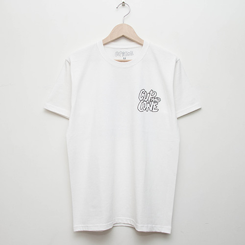 5th Anniversary Tee - White - cup and cone WEB STORE